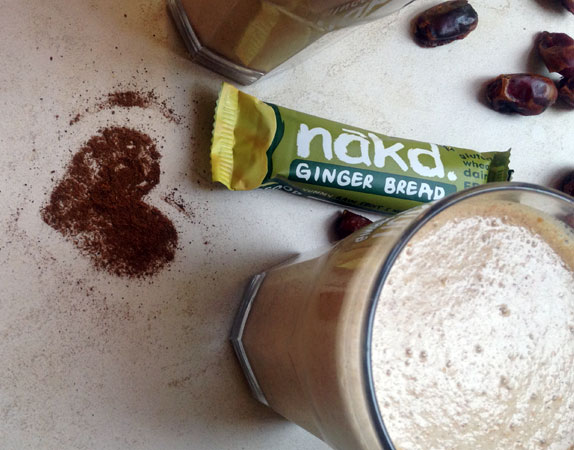 Ginger Bread Shake inspired by Nakd Gingerbread Bars