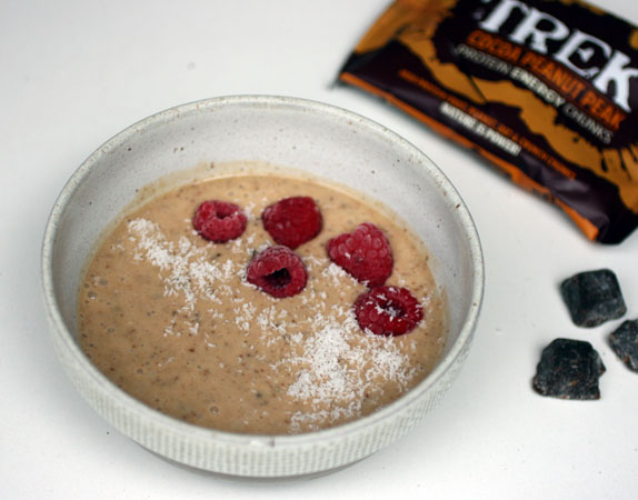 Cocoa Peanut Trek Chunks Smoothie Bowl
